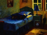 Bed in Leslie's Cottage Photographic Print by Pam Ingalls