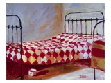 Checkered Bedspread Premium Giclee Print by Pam Ingalls