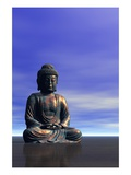 Buddha Statue Giclee Print by Clark Dunbar