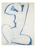 Blue Caryatid II Giclee Print by Amedeo Modigliani