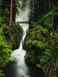 Bridge over a Waterfall Photographic Print by Mark Karrass