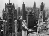 Wolkenkratzer in Chicago zu Beginn des 20. Jahrhunderts Fotografie-Druck von  Bettmann