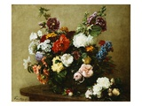 Bouquet of Various Flowers Giclee Print by Henri Fantin-Latour