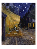 Cafe Terrace at Night Premium Giclee Print by Vincent van Gogh