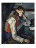 Boy in a Red Waistcoat Giclee Print by Paul Cézanne