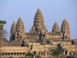 Central Towers of Angkor Wat, Cambodia Photographic Print by Kevin R. Morris