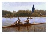 Les frères Biglen ramant Impression giclée par Thomas Cowperthwait Eakins