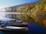 Darrell Gulin - Canoes on a Rural Lake - Fotografik Baskı