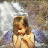Cherub and Ray of Light Photographic Print by Colin Anderson
