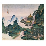Blue and Green Landscapes Giclee Print by Li Qing