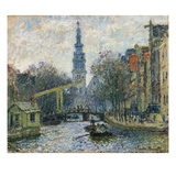 Canal, Amsterdam Reproduction procédé giclée par Claude Monet
