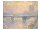Charing Cross Bridge at the Houses of Parliament, Giclee Print