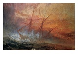 Detail of Sailing Ship from The Slave Ship Giclee Print by Joseph Mallord William Turner