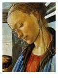 Detail of Mary from Madonna of the Eucharist Giclee Print by Sandro Botticelli