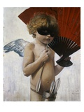 Cupid at the Masquerade Ball Gicleetryck av Franz von Stuck