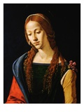 Detail Showing Upper Half of Mary Magdalene Giclee Print by Piero di Cosimo
