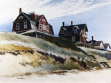 Cottages de Wellfleet Reproduction procédé giclée par Edward Hopper