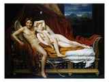 Cupid and Psyche Gicléetryck av Jacques-Louis David