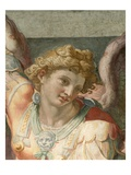 Detail of Figure from a Fresco Painting Depicting the Archangel Michael by School of Raphael Giclee Print by Araldo Luca