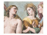 Detail of Venus with Ceres and Juno from the Loggia of Cupid and Psyche Reproduction procédé giclée par  Raphael