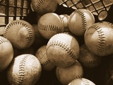 Crate Full of Worn Softballs Photographie par Doug Berry