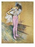 Danseuse Ajustant son Maillot (Le Premier Maillot) Giclee Print by Henri de Toulouse-Lautrec