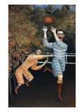 Detail of The Football Players Giclee Print by Henri Rousseau