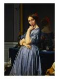 Comtesse d'Haussonville Giclée-Premiumdruck von Jean-Auguste-Dominique Ingres