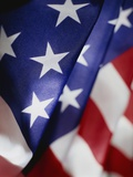 Close-up of American Flag Photographic Print by Rick Barrentine