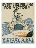 Every Girl Pulling for Victory Giclée-tryk af Edward Penfield