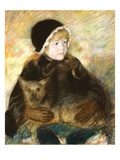 Elsie Cassatt Holding a Big Dog Giclee Print by Mary Cassatt