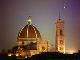 Dom und Turm von Santa Maria del Fiore vom Westen aus Fotografie-Druck von Jim Zuckerman