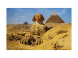 Excavation of the Sphinx Giclée-Druck von Ernst Koerner