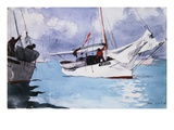 Fishing Boats, Key West Giclee-trykk av Winslow Homer