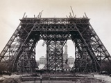 Eiffel Tower During Construction Photographic Print by  Bettmann