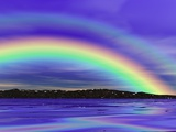 Double Rainbow Photographic Print by Clark Dunbar