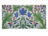 Floral Wallpaper Design with Tulips by William Morris Giclee Print by  Stapleton Collection