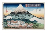 Evening Snow, Mt. Fuji from the Series Eight Views of Famous Places Giclee Print by Toyokuni II