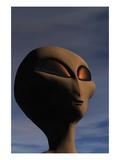 Face of an Extraterrestrial Alien Giclee Print by Clark Dunbar