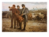 Drum and Bugle Corp, Civil War Encampment Giclee Print by Winslow Homer
