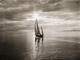 Diamond Head Yacht in Swiftsure Race Fotografie-Druck von Ray Krantz