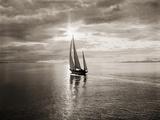 Diamond Head Yacht in Swiftsure Race Fotodruck von Ray Krantz