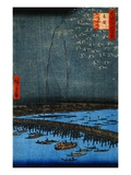 Fireworks at Ryogoku Giclee Print by Ando Hiroshige