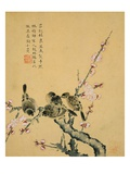 Plum Blossoms and Sparrows Giclee Print by Zhou Xianji