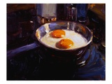 Eggs on the Gas Stove Giclee Print by Pam Ingalls