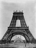 Eiffelturm im Bau Fotografie-Druck