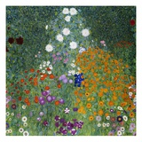 Farmer&#39;s Garden Giclee Print by Gustav Klimt