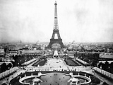 Eiffel Tower Over Exposition 1889 Lámina fotográfica