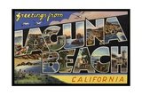 Greeting Card from Laguna Beach Giclee Print