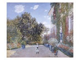 Garden of the Artist at Argenteuil Premium Giclee Print by Claude Monet